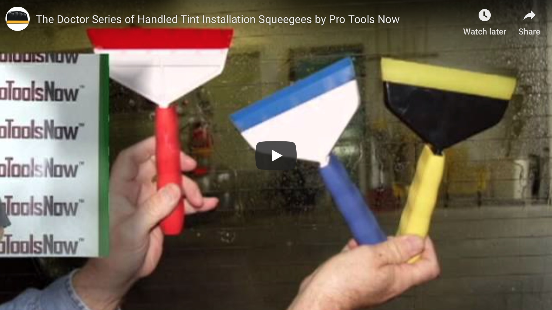 Go Doctor Series of Handled Tint Installation Squeegees by Pro Tools Now